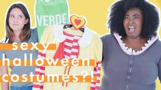 "The only thing spookier than Halloween are these ""sexy"" Halloween costumes—seriously, who tf comes up with these? We had 5 women try on the most ridiculous,"