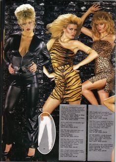 Feline fashion...80's. I wore the tiger leggins! The one on the left is the best.