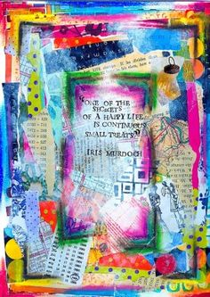 """Art Journal: """"One of the Secrets of a Happy Life is Continuous Small Treats"""" - daisy yellow - create explore paint Art Journal Pages, Art Journals, Visual Journals, Sketch Journal, Drawing Journal, Collages, Collage Art, Mixed Media Journal, Creative Journal"""