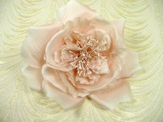 Pale Pink Silk Rose Millinery Flower Flat with by APinkSwan