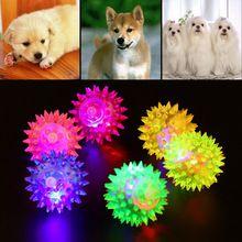 1 Stücke Hund Welpen Katze Pet Igel Ball Gummi Glocke Sound Ball Spaß spielen Spielzeug Hot weltweit(China (Mainland))