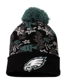 Men s New Era Black Philadelphia Eagles Tropic Diver Knit Hat d591badda
