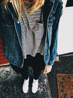 so I recently got my first denim jacket and I m rlly digging it. tryna find  any outfit ideas lol 22e1342e263d4