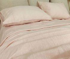 Dogwood Pink Linen Sheets Set