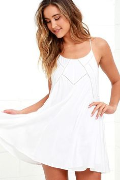 dae2524094  Valentines  AdoreWe  Lulus -  Lulus Easy Honey Ivory Slip Dress - Lulus