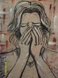 Pintura Acrílico sobre suporte de papel cannson 30 x 40 cm