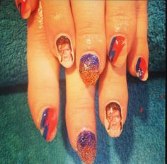 DAVID BOWIE Ziggy Stardust nail decals by chachacovers on Etsy, $6.00