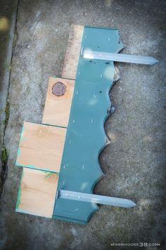 Scrap Wood Garden Edging from Farmhouse38