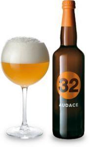Audace birra Artigianale Chiara Forte - 32 Via dei Birrai - birra adatta a cibi affumicati o ben salati.