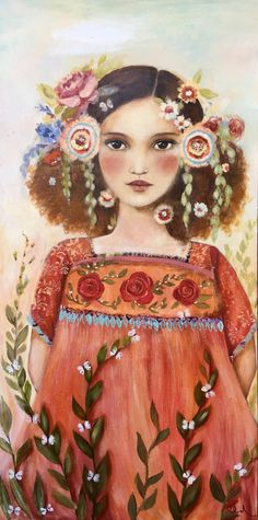 By Claudia Tremblay Art And Illustration, Portrait Illustration, Klimt, Anna Dittmann, Claudia Tremblay, Simple Oil Painting, Mystique, Portraits, Face Art
