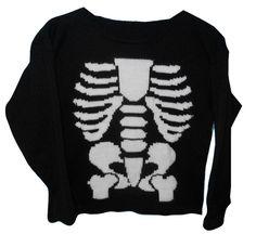 Skeleton Bones Pirate Sweater - Sweaters
