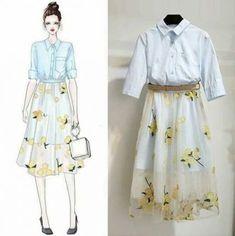 Korean Fashion – How to Dress up Korean Style – Designer Fashion Tips Look Fashion, Trendy Fashion, Fashion Art, Girl Fashion, Fashion Ideas, Cute Dresses, Casual Dresses, Casual Outfits, Fashion Dresses