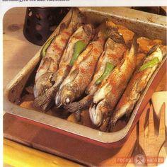 Pisztráng Szalajka módra Food And Drink, Fish, Vegan, Cooking, Diet, Kitchen, Pisces, Vegans, Brewing