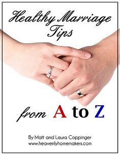 A simple marriage book not written by experts - sort of - but a couple from the male and female voices. It is free and may be downloaded from the writer's website.  She has more interesting information geared toward cooking in her blog.