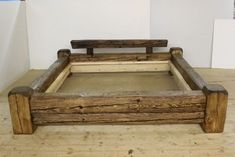 Bed frame, old wood, bed frame rustic (SONDE . from Holzkompetenz on DaWanda .- Bed frame, old w Woodworking Projects That Sell, Woodworking Wood, Woodworking Classes, Woodworking Videos, Woodworking Quotes, Woodworking Equipment, Woodworking Patterns, Reclaimed Wood Bed Frame, Rustic Bedding