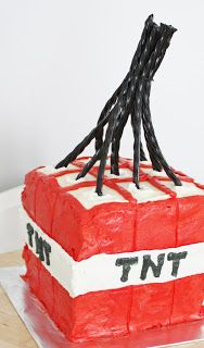 Minecraft TNT cake...if Ethan changes his mind from a Duck Dynasty party.