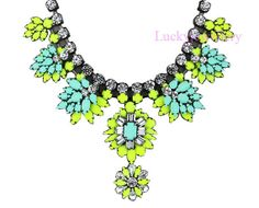 Just for Laura, Bib Necklace, Fashion Necklace, Shourouk Inspired Neon Necklace, Bubble Necklace, Chunky Necklace, Beaded Necklace(N224) on Etsy, $27.00