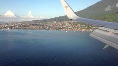 a beautifull view before you landing in Ternate airport (Sultan Babullah)