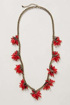 Anthropologie - Ixora Blossoms Necklace -something like this with czech daggers