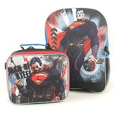b83f3065bb Superman Man of Steel Backpack and Lunch Bag Combo