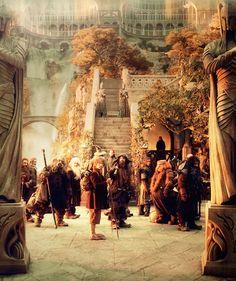 Arriving in Rivendell.