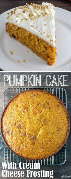 Such a flavorful, richly spiced, moist pumpkin cake with an easy, delicious cream cheese frosting! This is a must all fall long. Honestly, we just want pumpkin puree in everything. Grab the recipe for this cake here: http://www.ehow.com/how_12342925_make-thanksgiving-pumpkin-cake-cream-cheese-frosting-recipe.html?utm_source=pinterest.com&utm_medium=referral&utm_content=freestyle&utm_campaign=fanpage