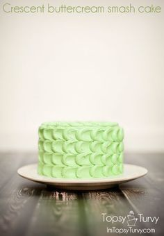 Crescent Buttercream Smash Cake