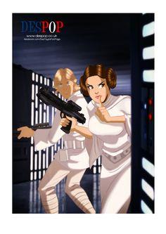 Rad STAR WARS Cartoon Style Art by DesTaylor - News - GeekTyrant