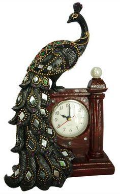 Peacock Mantle Clock