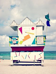 Cool lifeguard station in Miami  A huge Miami fashion journal! | This chick's got style