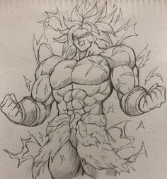 Rate you excitement for the new Broly movie from Art Fantastickyouth Comment below 👇👇👇… Goku Drawing, Ball Drawing, Manga Drawing, Drawing Sketches, Dragon Ball Gt, Broly Ssj4, Dbz Drawings, Broly Movie, Anime Sketch
