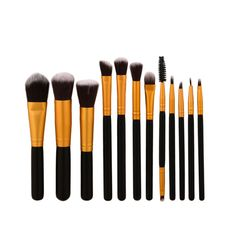 2017 New 12Pcs Make Up Powder Foundation Eyeshadow Eyeliner Lip Brushes Maquillage Cosmetic Makeup Brush Set M3 #Affiliate