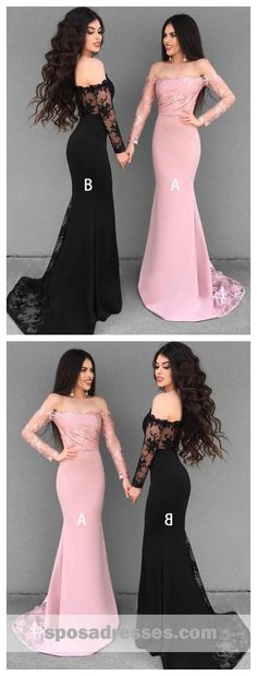 Long Sleeves Lace Mermaid Long Bridesmaid Dresses Online, – The World Prom Dresses Long Pink, Bridesmaid Dresses With Sleeves, Bridesmaid Dresses Online, Top Wedding Dresses, Prom Party Dresses, Dresses For Teens, Trendy Dresses, Bridesmaids, Grad Dresses