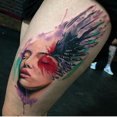 By @david_giersch_tattooist  #graph1nk to submit!  #graphictattoo #tattoo #blackwork #blackworktattoo #abstracttattoo #digitaltattoo #dotwork #digital #ink #pigment #needles #art #artist #tattooartist #abstract #vibranttattoo #watercolortattoo