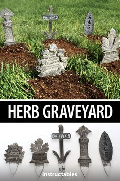 Have fun with your garden with these herb graveyard markers. These have been laser cut and etched at different layers but you could also 3D print them or even hand cut and carve them. #Instructables #gardening #lasercut #gravestones #backyard Garden Planters, Herb Garden, Diy Projects For Beginners, Real Plants, Edible Garden, Horticulture, Halloween, Garden Landscaping, Outdoor Gardens