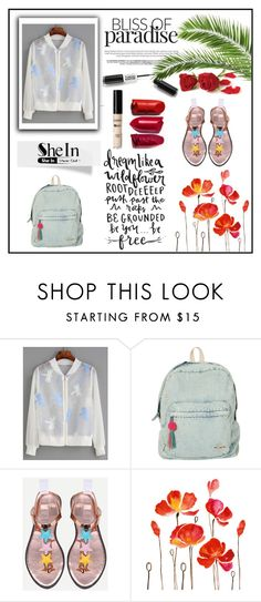 """beautiful shein jacket"" by cattrina-k ❤ liked on Polyvore featuring WithChic and Billabong"