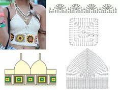 Fabulous Crochet a Little Black Crochet Dress Ideas. Georgeous Crochet a Little Black Crochet Dress Ideas. Tops Tejidos A Crochet, Tops A Crochet, Débardeurs Au Crochet, Crochet Woman, Crochet Chart, Love Crochet, Crochet Patterns, Fashion Bubbles, Bikinis Crochet