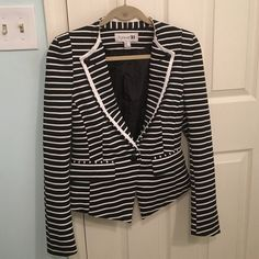 Striped blazer Used a few times! Great condition! Selling because I don't wear it anymore! Forever 21 Jackets & Coats Blazers