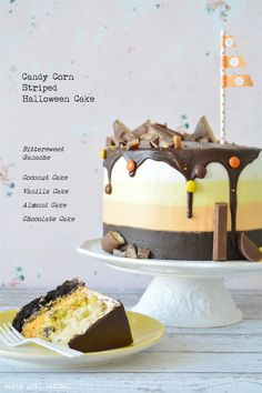 Curly Girl Kitchen: Candy Corn Striped Halloween Cake