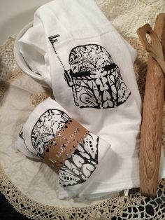 Boba Fett Star Wars kitchen flour sack towel by DoodleButton