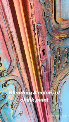 Funky Painted Furniture, Chalk Paint Furniture, Refurbished Furniture, Repurposed Furniture, Furniture Projects, Furniture Makeover, Diy Furniture, Turquoise Furniture, Bohemian Furniture