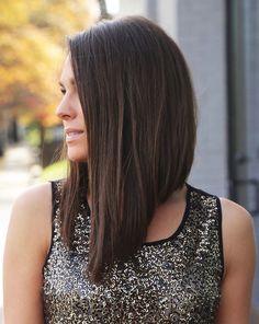 coiffure carre plonge coupe femme originale plongeant dégradé