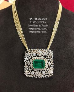 "OmPrakash Jewellers and Pearls on Instagram: ""Stylish & Elegant Diamond Locket with Fancy Italian Chain!! Internationally Certified VVS-EF Diamonds used... #omprakashjewellers…"""