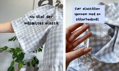 Kjole med pufærmer - Syguide | Maria Møller Sewing Clothes, Diy Beauty, Letter Board, Good Things, Lettering, How To Make, Easy, Washroom Sign, Stitch Clothing