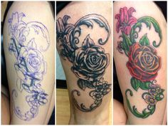 1000 images about tattoo ideas on pinterest rose for Big tattoo cover up