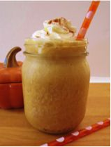 50 calorie Pumpkin Spice Frappuccino... I'm also going to try to make it using hot coffee for a light pumpkin spice latte