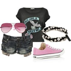 peace love rock and roll, created by mandik96 on Polyvore