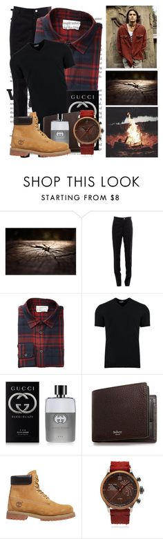 """"""" plaid woods  """" by ele-b-s ❤ liked on Polyvore featuring Thom Browne, Dolce&Gabbana, Gucci, Mulberry, Timberland, Terra Cielo Mare, men's fashion and menswear"""