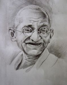 Ghandi drawing