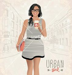 Great fashion illustration for you!  Click to download Urban Girl http://bit.ly/1dOIoSt  - Chic & Sassy Designs